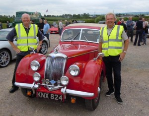 Club Captain Brendan & Mick Curtis with one of the Classic Cars